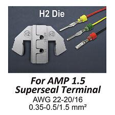 TGR Crimping Tool Die - H2 Die for AMP 1.5 Superseal Terminal AWG 22-20/16