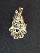 Sterling Silver Clown Charm Pendant