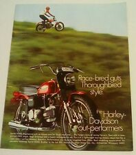 Harley davidson sprint SS350 125cc Rapido VINTAGE magazine print ad