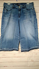 NEW Without Tags Lane Bryant Women's Medium Wash Cropped Jeans Size 20