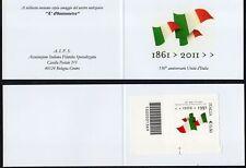 2011 Libretto Privato Italia Repubblica 150°Unità 1° Barre
