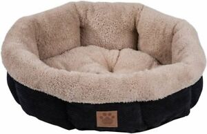 Precision Pet Snoozzy Mod Chic 12 Inch Round Pet Bed Black