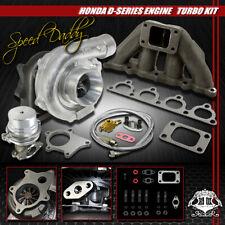 T04E 5Pc T3/T4 Turbo Kit Turbocharger+Cast Manifold+Wg D15/D16 Civic/Crx/Del Sol