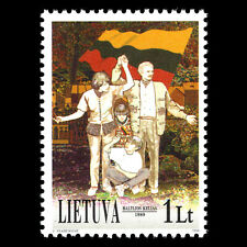 Lithuania 1999 - 10th Anniversary of the Baltic Chain - Sc 539 MNH