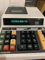 Vintage Royal 216PD Electric Printing Adding Machine Calculator Japan 12-Digit