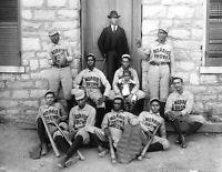 "1899 African American Baseball Team Morris Brown Photograph 8.5"" x 11"" Reprint"