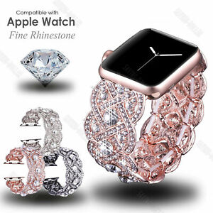 Bling Crystal Diamond Band Wrist Watch Strap For Apple iWatch Series 6 5 4 3 2 1