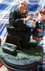 Vintage 1998 Curtis Pub. Norman Rockwell Dr. And Dolly Figure