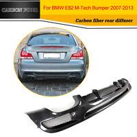 Carbon Fiber Rear Bumper Diffuser Lip Fit for BMW 1 Series E82 M-Sport 2007-2013
