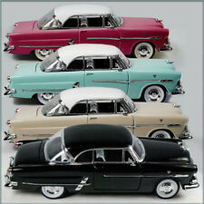 FOUR WELLY 1953 FORD VICTORIA 1/24 DIECAST CARS UN-BOXED MAROON CREAM TEAL BLACK