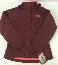 The North Face Women's Resolve Hooded Jacket Hyvent Waterproof Garnet Red XS