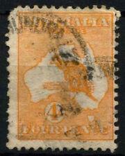Australia 1913-4 SG#6, 4d Orange Kangaroo Used #D48384