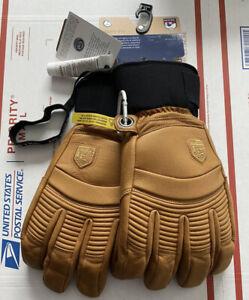NWT Hestra Alpine Pro Leather Fall Line Unisex Ski Gloves Color Cork Size 11 XXL