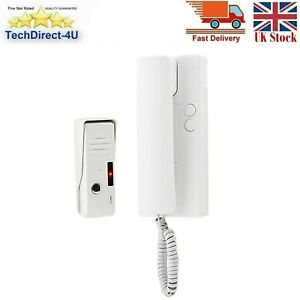 Kingfisher 12V Wired Handset Audio Intercom System - 2 Way Communication White