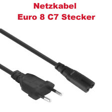 Euro-Netzkabel 2-pin Euro 8 C7 1,5m für Playstation 3 Playstation 1 Xbox