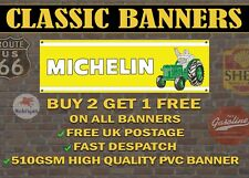 Classic Michelin Tractor Tyres Banner for Garage / Workshop Retro Sign
