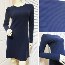 REFORMATION New Womens A Line Shift Sweater Dress L Shirt Long Sleeve Navy Blue