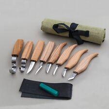 Schitzwerkzeug Satz 8p Kerbschnitzmesser Schnitzmesser Holz Schnitzen Set Messer