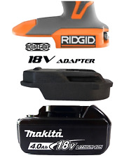 Makita Battery to RIDGID Skin 18V Adapter Trim Router Mitre Saw Drill Blower