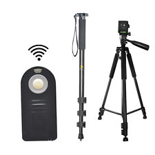 "Pro 60"" Tripod & 72"" Monopod + Wireless Remote For Nikon D3200 D3300 D5100 D5200"