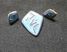 Lorenzen Lantz NS Jewelry Brooch Canadian Art Pottery Mid Century Earrings Set
