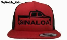 Sinaloa Truck Logo Hat red And Black Color Way Trucker Hat Brand New !!!