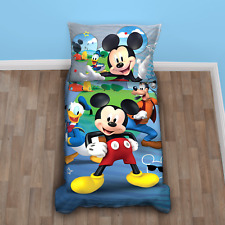 Kids Toddlers Bedding Sheet Set Mickey Mouse Supper Comfort Soft Blue 4 Pieces