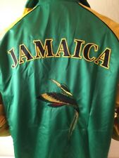 Puma Official Team Jamaica Nylon Track Jacket Embroidered XL Satin Hummingbird