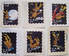 Stadspost Den Helder  - 6 Kerstzegels gebruikt, op papier