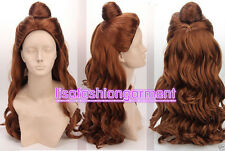Anime Costume Disney Princess Belle Christmas Synthetic Color Brown Cosplay Wig