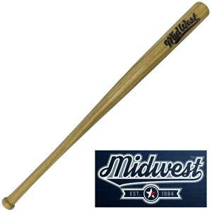 Midwest Slugger Wooden Baseball Bat - Wood ✅ FREE UK SHIPPING ✅