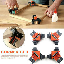 4Pcs 90 Degree Right Angle Clip Clamps Corner Holder Woodworking Hand Tools