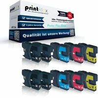 10x Premium Tintenpatronen für Brother DCP 145 C 163 LC980  - Proline Plus Serie