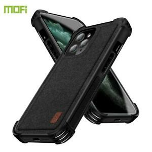 For Apple iPhone 12 Pro 12 Pro Max Case Fabric Heavy Duty Cover NEW Coffee Black
