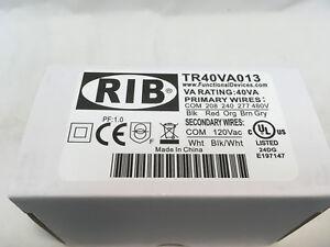 RIB TR40VA013 40VA 208/240/277/480V Prim 120V Sec Transformer