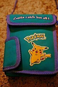 Vintage 90s - Game Boy Color - Pokemon - Pikachu Carrying Case - Teal