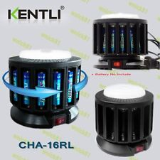 KENTLI 16 slots LITHIUM POLYMER RECHARGEABLE AA/AAA BATTERY CHARGER w/ LAMP