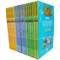 Adam Blade Beast Quest Series (2-4) Collection 18 Books Pack Set Zepha, Soltra