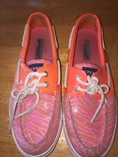 sperry top sider women 7 M Pink And Orange