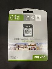 PNY High Performance SDXC Flash Card 64GB 100MB/s