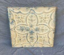 "Antique Tin Metal Ceiling 2' x 2' Shabby Vtg Old 24"" Sq Sand Leaf 1198-20B"