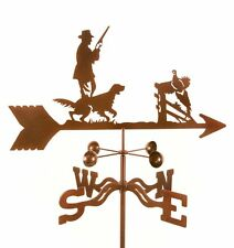 Hunter with Dog Weathervane, Bird Hunting Weather Vane - with Choice of Mount