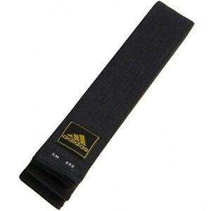 """adidas 2"""" MASTER Deluxe Black Belt for Masters Taekwondo Karate Hapkido Kendo"""
