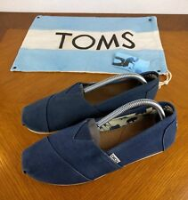 TOMS Classic Navy Blue Shoes Mens Size 9 Animal Zoo Slip On Bag Flats Hipster