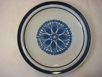 "Blue Monterrey Stoneware Dinner Plate, 12"" Diameter, Made In Japan (Rare)"