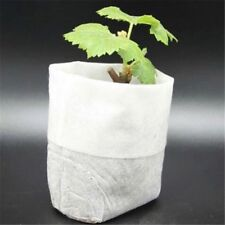 100x US Nursery Pots Seedling-Raising Bags Plant-fiber Home Garden Supplies Hot