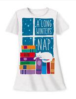 A Long Winter's Nap Sleep Shirt Night White