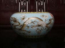 Old Rare Famille Rose Chinese Porcelain Dragon Brush Washer Yongqingchangchun MK