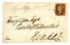 1843 GB wrapper with Flookboro udc and endorsed with 1/- Registered Letter