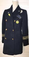 Forever 21 Long Navy Blue Blazer Jacket w Patches Small  Bollywood Rockabilly